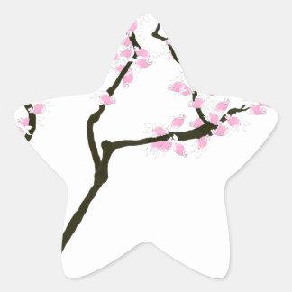 sakura with pink goldfish, tony fernandes star sticker