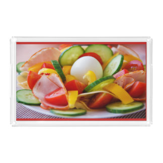 Salad and Egg Acrylic Serving Tray