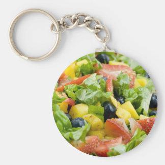 Salad Basic Round Button Keychain