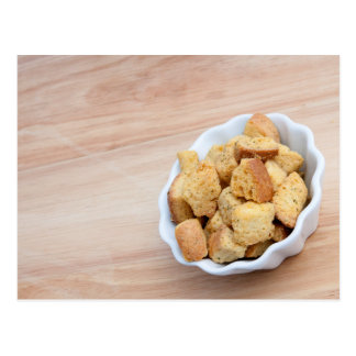 Salad Croutons in a bowl Postcards