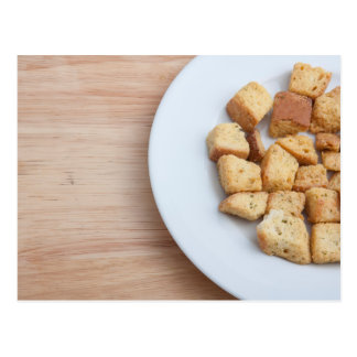 Salad Croutons on a plate 2 Postcards
