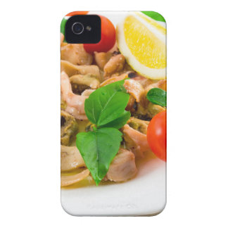 Salad of blanched pieces of seafood on a plate Case-Mate iPhone 4 cases