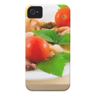 Salad of blanched pieces of seafood on a plate iPhone 4 covers