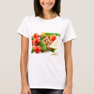 Salad of blanched pieces of seafood on a plate T-Shirt