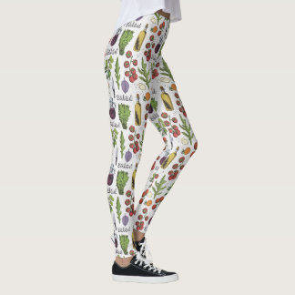 Salad Pattern leggings