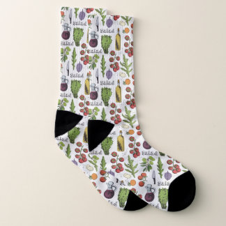 Salad Pattern socks