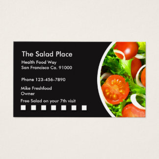 Salad Restaurant Businesscards Business Card