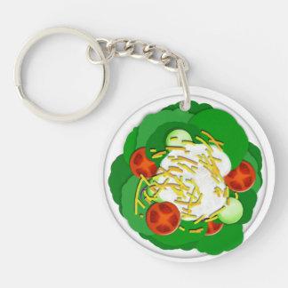 Salad Single-Sided Round Acrylic Keychain