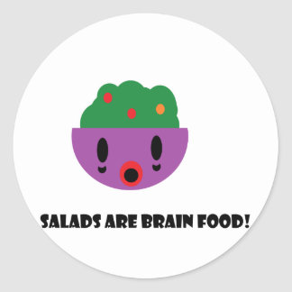 Salads are Brain Food Classic Round Sticker