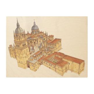 Salamanca Cathedral. Spain Wood Wall Art