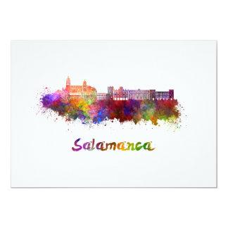 Salamanca skyline in watercolor card