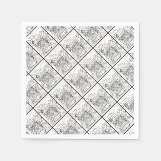 Salamander Barton Creek Line Art Design Paper Napkins