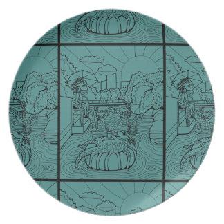 Salamander Barton Creek Line Art Design Plate