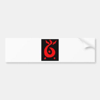 Salamander Red Bumper Sticker