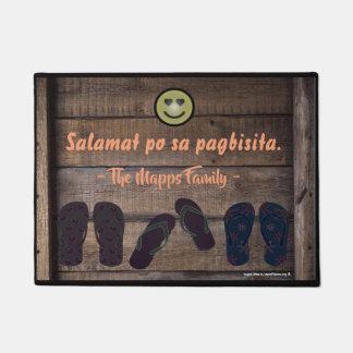"""Salamat po sa pagbisita """"old wood style"""" doormat"""