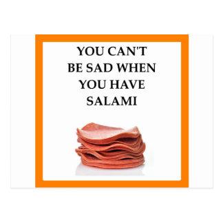 SALAMI POSTCARD