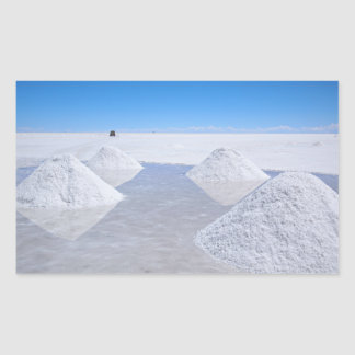 Salar de Uyuni salt flats rectangular sticker