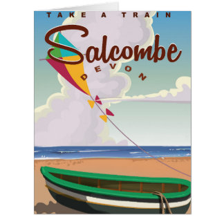 Salcombe, Devon Vintage Travel Poster Card