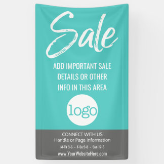 Sale Advertisement - Add Logo and Details Banner