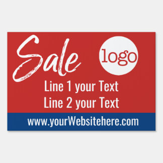 Sale Advertisement - Add Logo and Details Red Blue