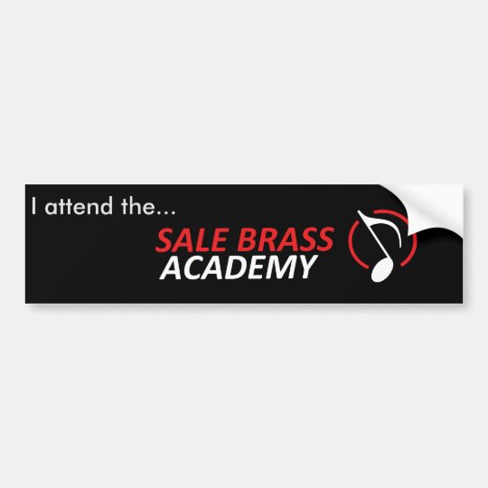 Sale Brass Academy Player Bumper Sticker
