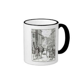 Sale by Town Crier, after a woodcut in 'Praxis Rer Ringer Mug