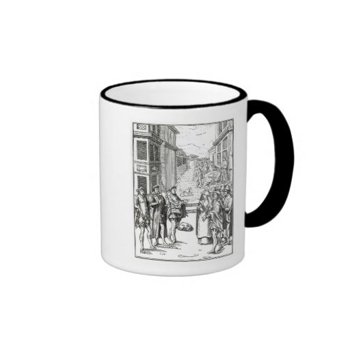Sale by Town Crier, after a woodcut in 'Praxis Rer Mug