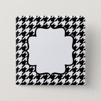 SALE - CUSTOM NAME TAG HOUNDSTOOTH PINS