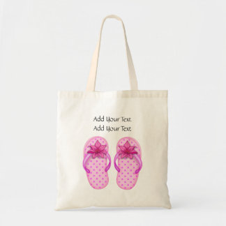Sale - Little Pink Flip Flops Tote by SRF