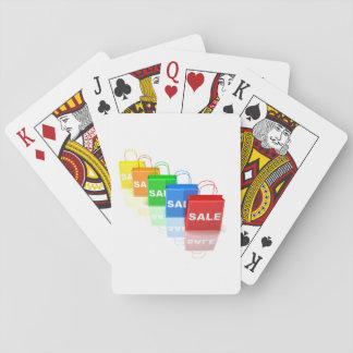 Sale Shopping Bags Playing Cards