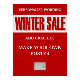 Sale winter business clearance poster