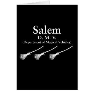 Salem Department of Magical Vehicles Card