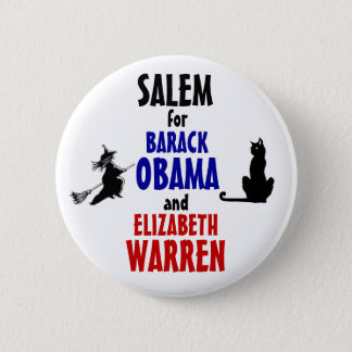 Salem for Obama and Warren 2012 2 Inch Round Button