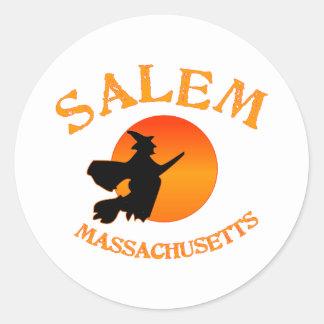 Salem Massachusetts Witch Classic Round Sticker