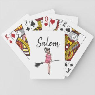 """Salem Massachusetts"" Witch / Halloween Playing Cards"