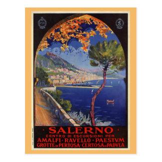 Salerno Italy vintage summer travel ad Postcard