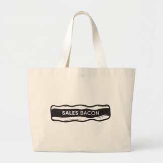 Sales Bacon Large Tote Bag