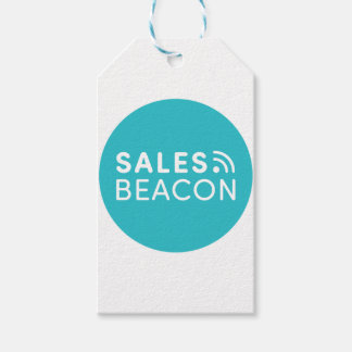 Sales Beacon - Logo - Teal large Gift Tags