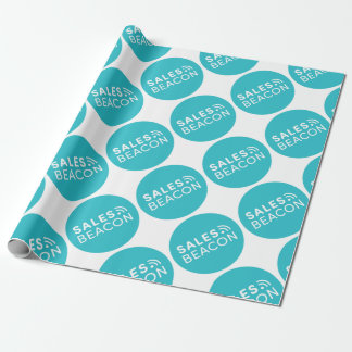 Sales Beacon - Logo - Teal large Wrapping Paper