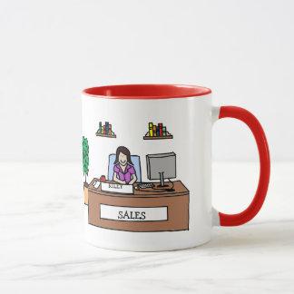 Sales team gift - customizable cartoon mug