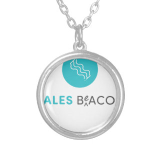 SalesBeacon - Bacon - Grey Silver Plated Necklace