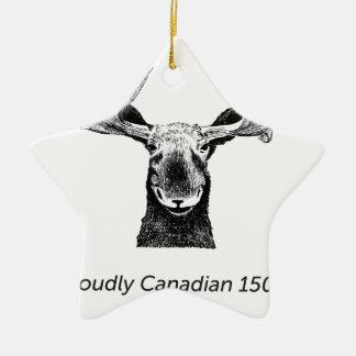 SalesBeacon - Bacon - Moose - Black Ceramic Ornament
