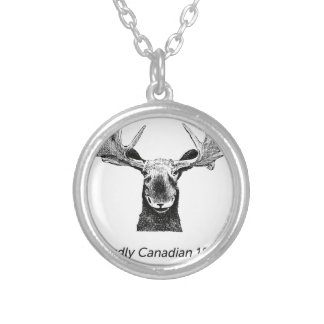 SalesBeacon - Bacon - Moose - Black Silver Plated Necklace