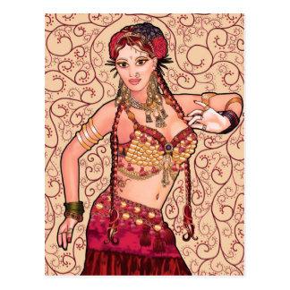 Salesk Tribal Belly Dancer Postcard