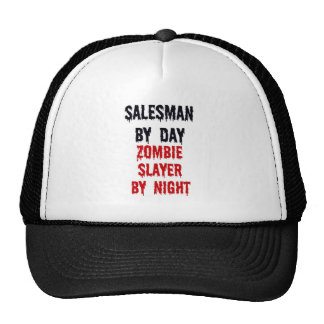 Salesman By Day Zombie Slayer By Night Hats
