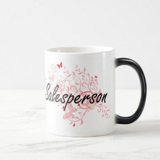 Salesperson Artistic Job Design with Butterflies Magic Mug