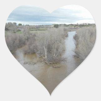 Salinas River as Seen From Templeton Bridge Heart Sticker