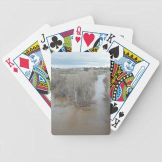 Salinas River North of Veterans Memorial Bridge Bicycle Playing Cards