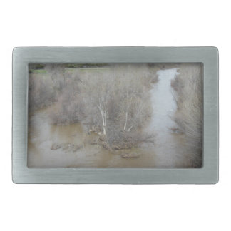 Salinas River North of Veterans Memorial Bridge Rectangular Belt Buckles