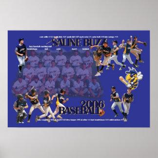 Saline Buzz Baseball 2006 Poster